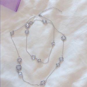 Nickel free Swarovski crystal long necklace.